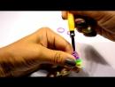 #Цветочек из #резинок Рейнбоу Лум #Лумигуруми-- Flower Rainbow Loom