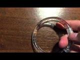 Светящийся браслет на руку - замена батареек