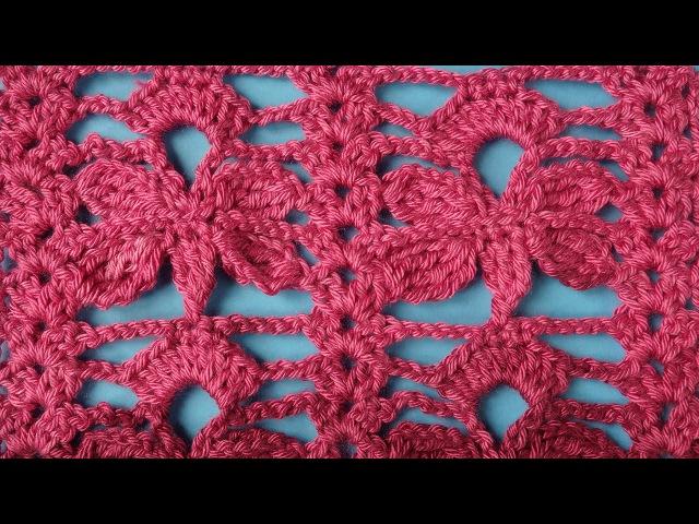 Узор Бабочки Crochet butterfly pattern Вязание крючком узор 51