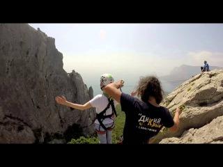Юсупова Аня Ильяс-кая роупджампинг в Крыму с командой Скайлайн