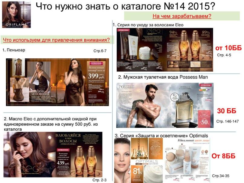 Что нужно знать о каталоге №14 2015?