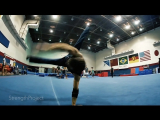 Simonster monster power  calisthenics session- air flares, headspins at newhope gymnastics