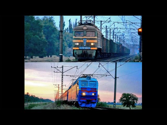 Схрещення електровозів ВЛ8М-1627 та ЧС7-312 на перегоні Радушна - Апостолове Придн.зал..
