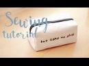 D.I.Y square purse. Квадратная косметичка, простой способ!