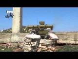 Сирия  подбитие танка Т 72 из ПТУР  Фагот   22 04 2014