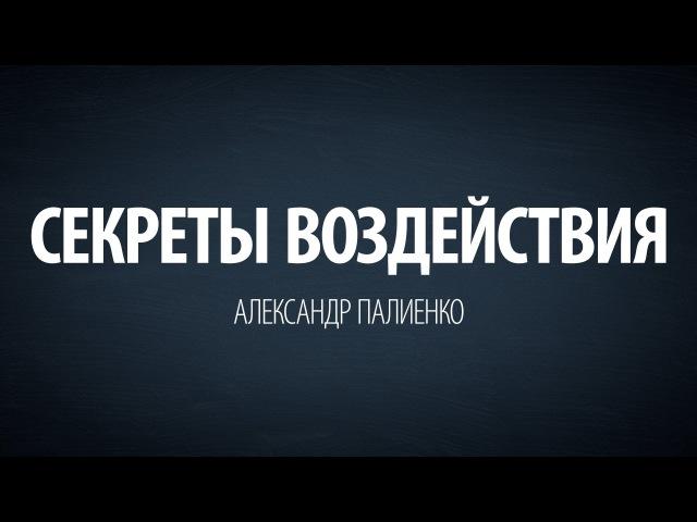 Секреты воздействия. Александр Палиенко.