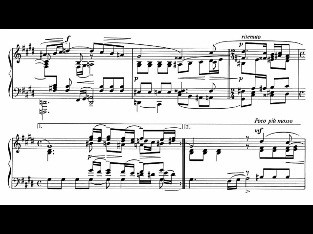 Rachmaninoff Kocsis Vocalise for piano solo with sheet music