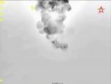 Су-34 разбомбил командный пункт ИГ кадры с воздуха