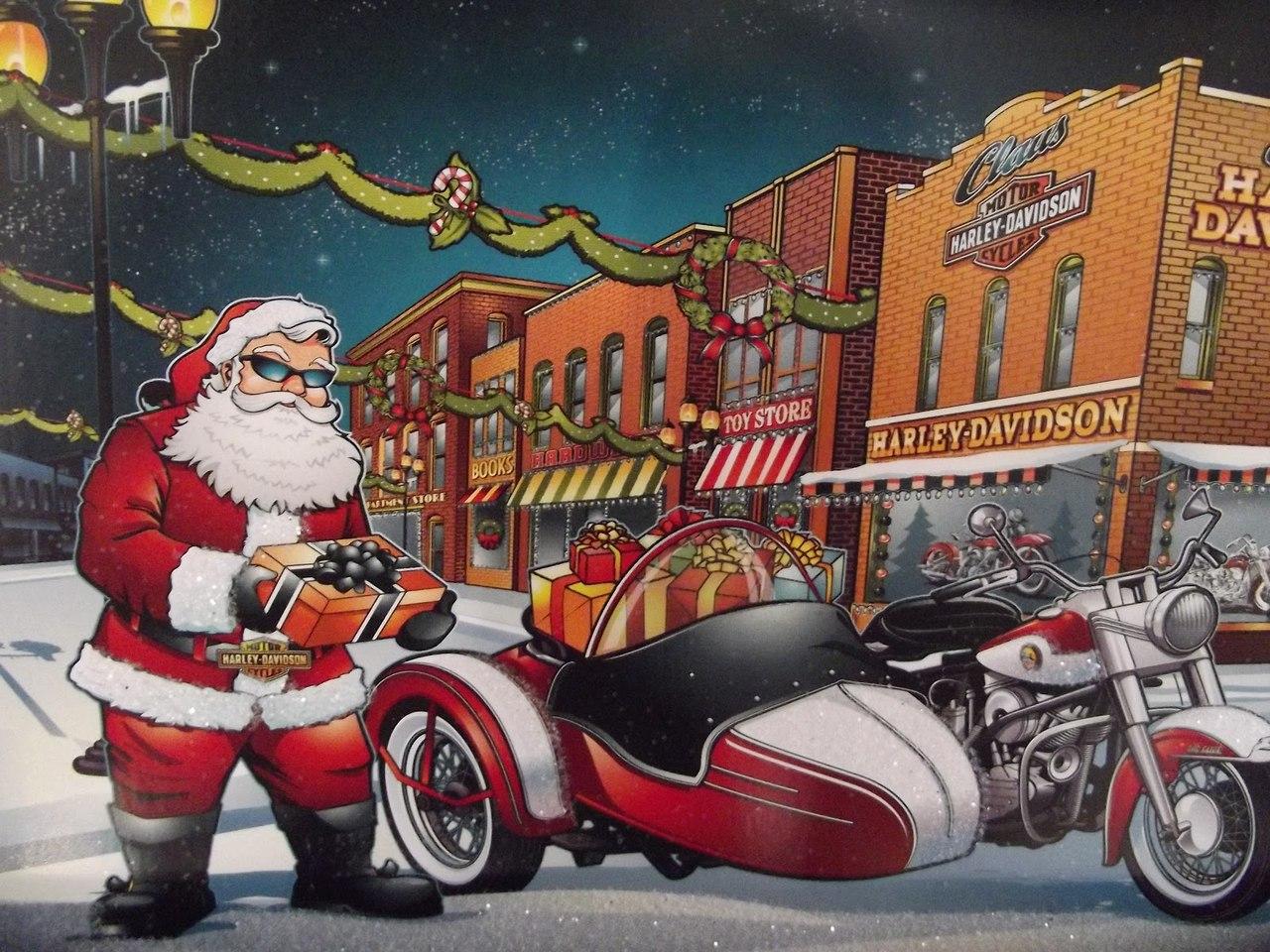 Год, мото открытка с новым годом