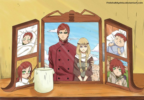 Gaara's family... Gaara And Naruto Kids