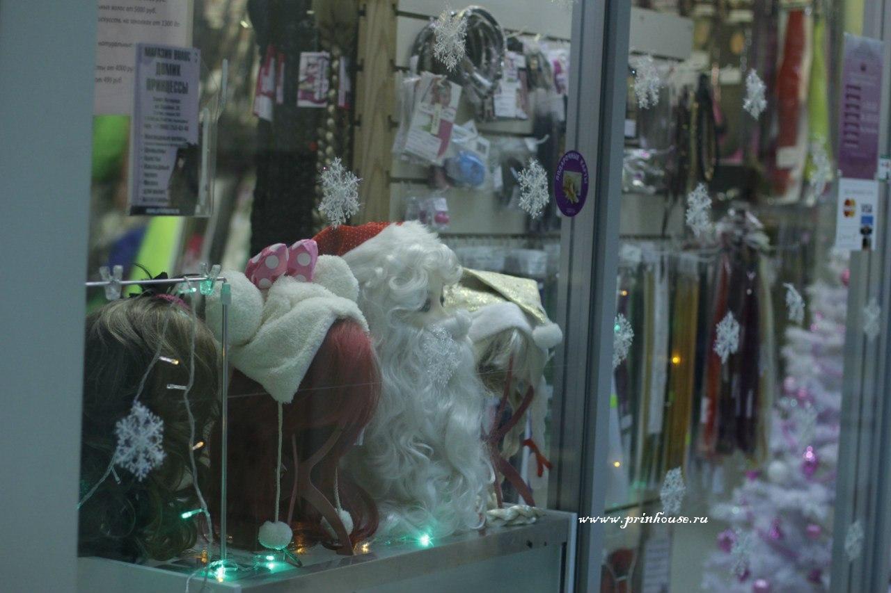 новый год ,витрина магазина Домик Принцессы,новогодняя
