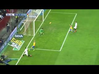 Севилья - Валенсия, Эскудеро, Гол, 1-0