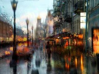 Акварельные фотографии дождя Эдуарда Гордеева | Дождь Город Джаз | City Rain Jazz (HD)
