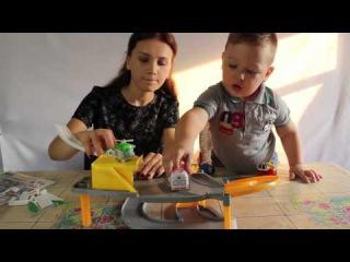 Открываем игрушки  Поли Робокар командный центр | unboxing Robocar Poli parking base