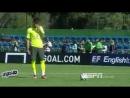 Neymar amazing penalty kick in Brazil Training Session (Ð_Ñ_игиналÑ_ное иÑ_полнение пеналÑ_Ñ_и Ð_еймÐ