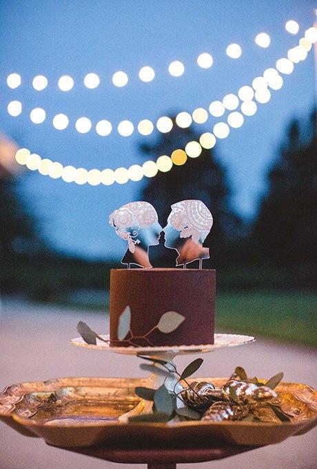 VV3OBkhGZKU - Темный свадебный торт (20 фото)