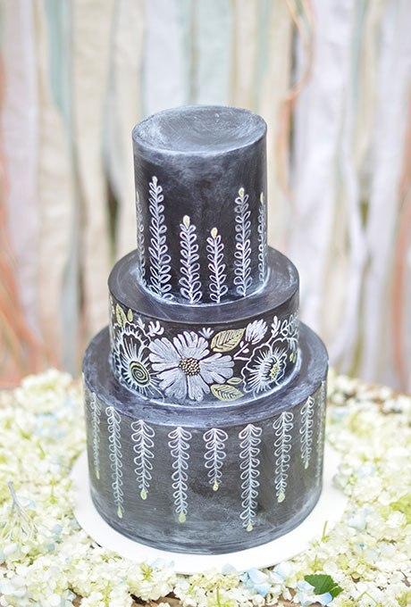 h7FG3aYIQ7g - Темный свадебный торт (20 фото)