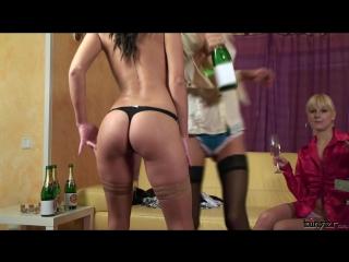 Nessa devil, rachel evans  lena cova - bimbo waitresses wet champagne show