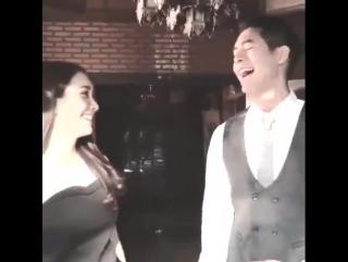 Вейр и Мин на съёмках лакорна Пряный аромат любви / Koo Sah Rod Saep (Таиланд, будущий лакорн)
