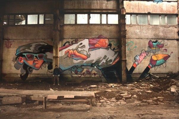 граффити реклама очков Ray Ban