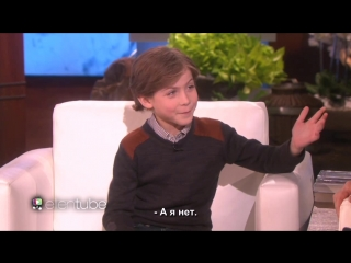 Jacob Tremblay Joins Ellen for the First Time RUS SUB