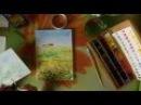 Картина акварелью Поле подсолнухов. Speed painting.