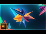 How to Make Abstract Facets   Adobe Illustrator Tutorial