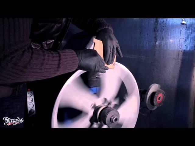 Процесс порошковой покраски дисков.