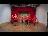 Christmas Cabaret Girls Jazz by Ekaterina Agaponova