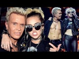 Billy Idol &amp Miley Cyrus - Rebel Yell LIVE (Official Video)