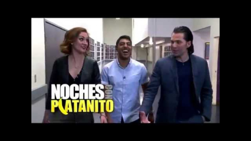 Katherine Barrell and Tim Rozon in Noches Con Platanito