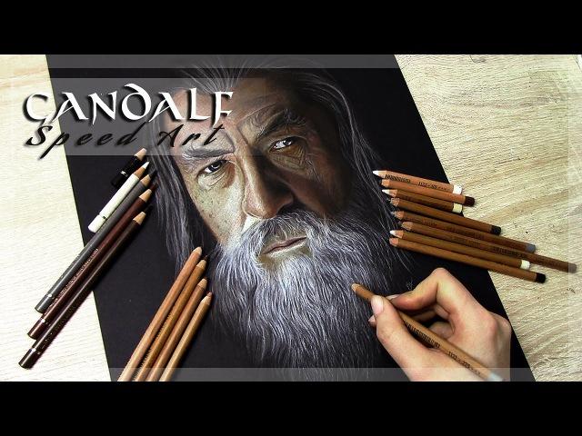 Gandalf (Ian McKellen) - Speed Art Pastel Portrait Painting Drawing