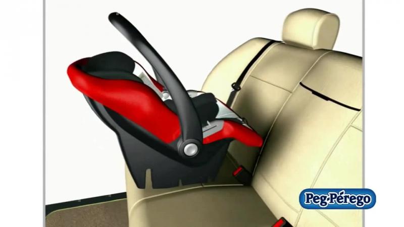 Установка автокресла Peg Perego Primo Viaggio Tri Fix на базу Adjustable Base и базу IsoFix
