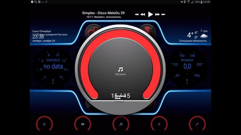 Android CarPc оболочка для Volkswagen