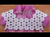 Цветочная кокетка крючком Безотрывное вязание Платье с ромашками Схема вязания