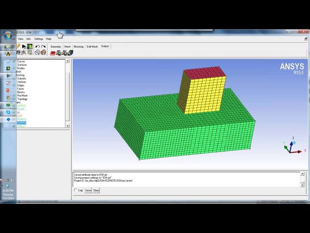 Parameterization of Blocking in ICEM CFD Hexa (WB)