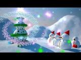 Футаж Новогодняя дискотека HD