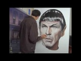 Time lapse portrait of Leonard Nimoy Spock Lee Bivens Star Trek Enterprise original how to tutorial