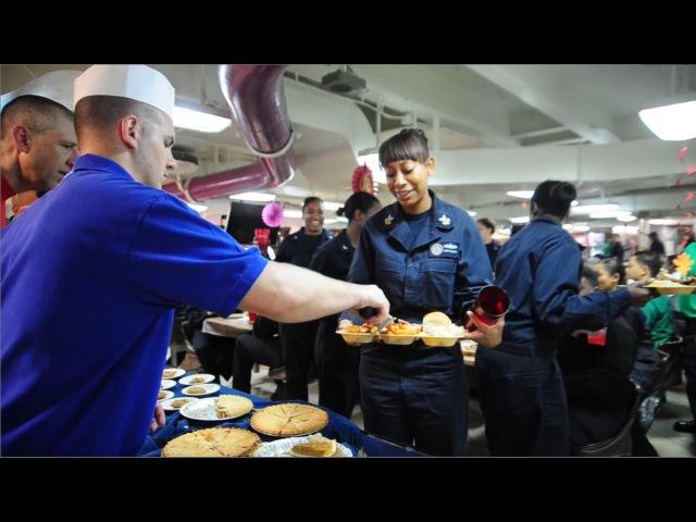Thanksgiving aboard USS Carl Vinson in the Arabian Gulf