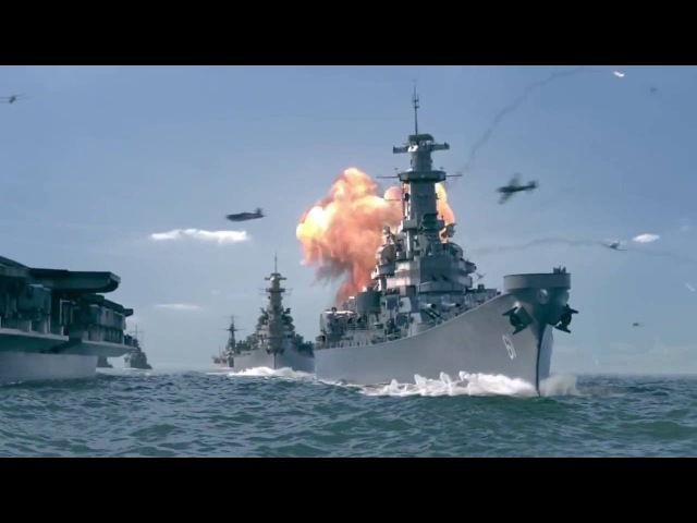 Грандиозные морские бои Корабли второй мировой войны в морских сражениях!