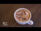 Арт искусство в чашечке кофе
