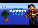 Индустриальный майнкрафт Skyblock - прохождение карты с модами #02 FTB Infinity Evolved Skyblock