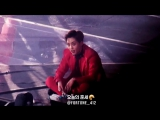 160318 EXOluXion[dot] XIUMIN, 땀 닦으면서 스탠딩에 있는 팬들이랑 얘기하는 민석이 oAo!