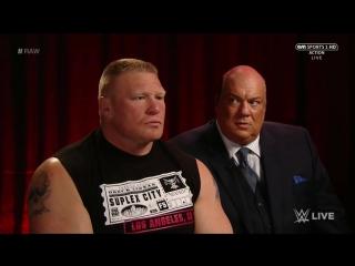 РУС.: 545TV WWE RAW - Интервью Брока Леснара и Пола Хеймана