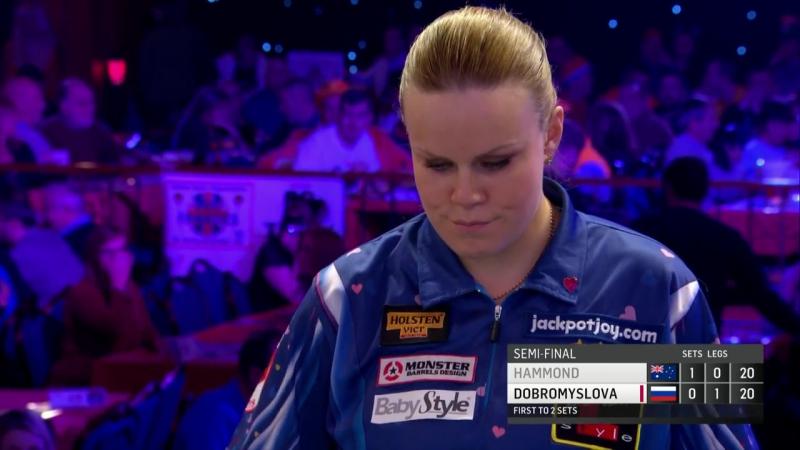 Corrine Hammond vs Anastasia Dobromyslova (BDO World Darts Championship 2017 Semi Final)