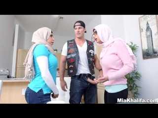 Big tits arab pornstars mia khalifa and julianna vega fuck big dick white d | fucking milf 18+