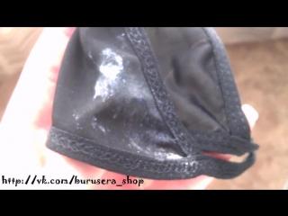 Фетиш- влажные после мастурбации трусики-стринги, ношенные два дня