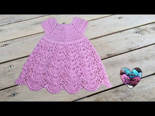 Robe princesse crochet toutes tailles 1/2 / Princess dress crochet all sizes (english subtitles)