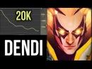 Dendi Invoker vs 20k Gold Lead and Sun Strike Boss Solo 7200 MMR Gameplay Dota 2