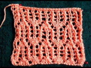 ВЯЗАНИЕ СПИЦАМИ ДЛЯ НАЧИНАЮЩИХ! АЖУРНЫЙ УЗОР №2!Knitting
